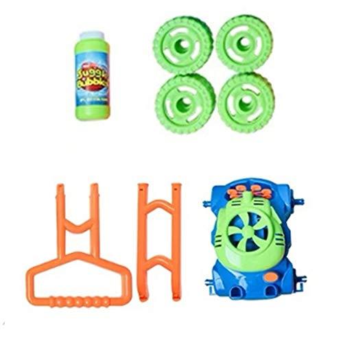 Spielzeug Hand Push automatisches Bubble Car mit Musik Der elektronische Sprudelmäher Wird mit Einer Nachfüllflasche geliefert Indoor Outdoor Play 60ml