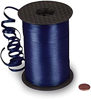 """3/16"""" X 500 Yds Navy Crimped Curling Ribbon"""