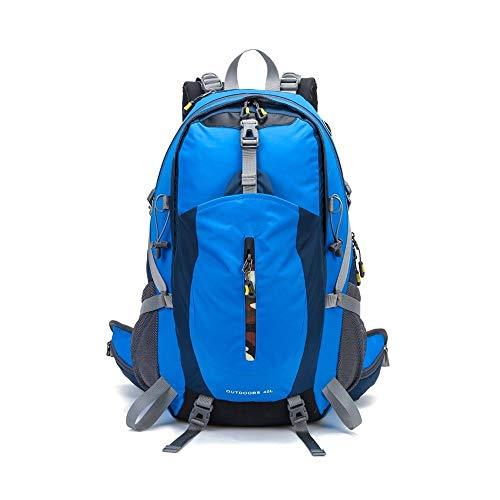 ZQINY Bolsas de Hombro al Aire Libre del morral del Alpinismo Que acampa yendo de Viaje Trekking Mochila Impermeable Cubierta de la Lluvia Bolsa de Bicicletas Deportes (Color : Blue)