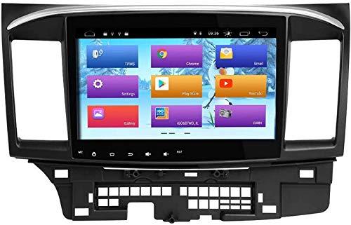 FACAIA Radio de Coche Android 9.0 Compatible con Mitsubishi Lancer 2008-2015 Unidad Principal estéreo para Coche GPS con Salida RCA Completa WiFi OBD Control del Volante