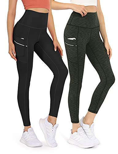 ODODOS Women's High Waisted Tummy Control Workout Pants