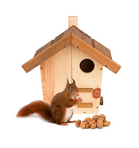 BigDean Eichhörnchenkobel Eichhörnchen Haus Nest Nistkasten Kobel Massivholz verschraubt 37,5 x 29 x 36 cm