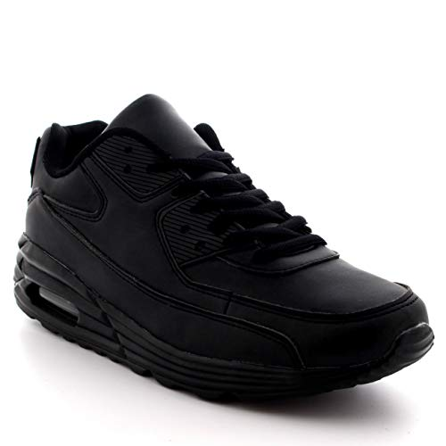 Mens Fitness Air Bubble Sport Walking Running Performance Shoes Lightweight Trainers - Black - UK9/EU43 - BS0086