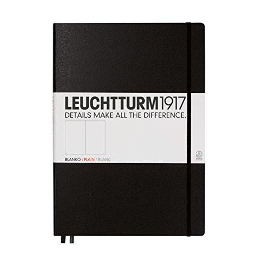 LEUCHTTURM1917 308227 Notizbuch Master Classic (A4+), Hardcover, 233 nummerierte Seiten, Schwarz, blanko