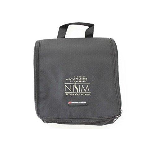 Nisim Hanging Toiletry Kit / Travel Wash Bag Black (Mens/ Unisex)