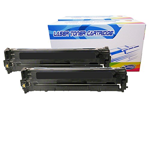 Inktoneram Compatible Toner Cartridges Replacement for HP CF380X CF380A 312A 312X Color Laserjet Pro M476dw MFP M476dn M476nw (Black, 2-Pack)