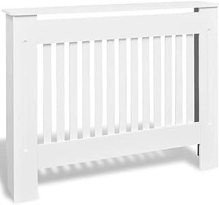 Mueble cubierta para radiador, Cubre Radiador 112x19x82cm Decoración Radiator Tapar la calefacción MDF Blanco