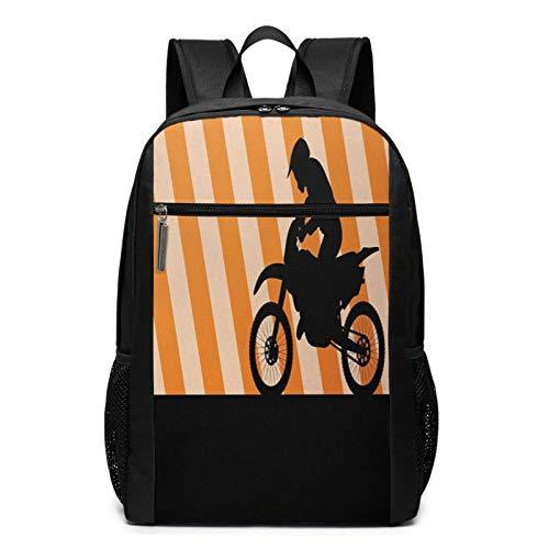OMNVEQ Mochila Escolares Bicicleta de Tierra 44, Mochila Tipo Casual para Niñas Niños Hombre Mujer Mochila para Ordenador Portátil Viaje