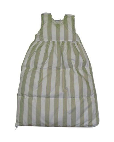 Tavolinchen 40/105-129-90 - donzen slaapzak strepen breed wit-beige, maat 90 cm