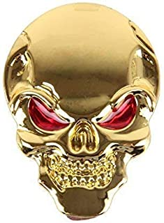 3D Metall Skull Totenkopf Sticker Emblem Badge Aufkleber PKW KFZ Auto Gold