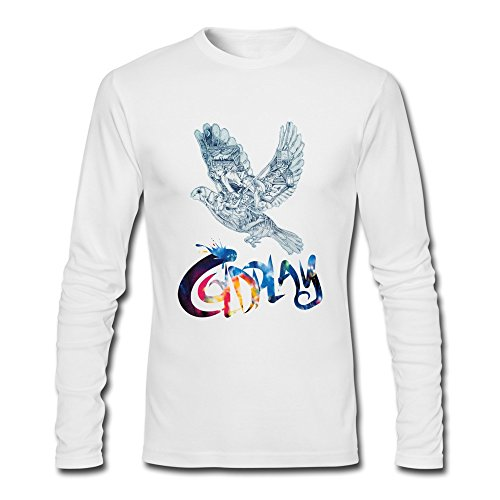 Adult Vintage Normal Fit Coldplay Magic 2014 Long Sleeve T-Shirt XXLarge