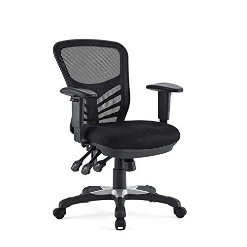 Modway EEI-757-BLK Articulate Ergonomic Mesh Office Chair in ...