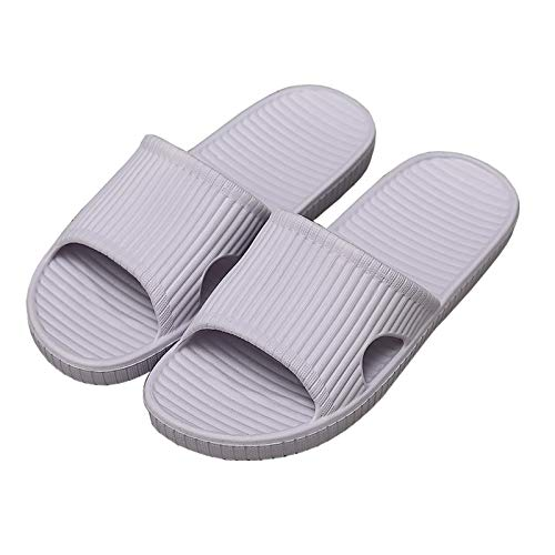 Sandalias de Ducha AiJiaTu, Zapatillas Antideslizantes Unisex, Sandalias de Suelo para Interiores y Exteriores, Zapatos de Baño de Espuma Suave, Morado EU 36-37