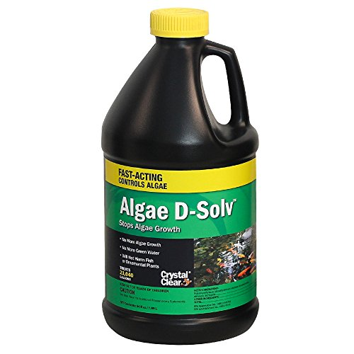 CrystalClear Algae D-Solv - EPA Registered Algaecide - 64 Ounces Treats 23,040 Gallons