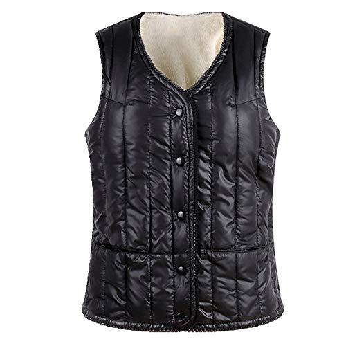 Chaleco de algodón de plumón para mujer de invierno corto cálido chaleco de las señoras más terciopelo