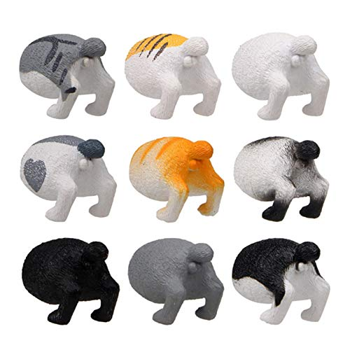 Imanes pequeños, 9 piezas de caricaturas de gato para tablón de anuncios, nevera, imán de imagen – Innovadora hebilla magnética