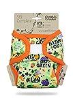 Petit Lulu TE2 Pañal de Tela | Talla Única (4-15 kg) | SIO Complete | Nueva Versión | Gancho y Bucle | Reutilizable y Lavable (Go Green)
