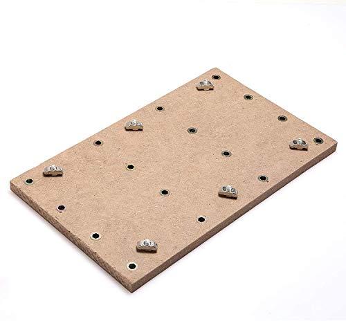 Genmitsu CNC MDF-Arbeitsoberfläche für 3018 CNC-Fräser, 30 x 18 x 1,2cm (11-4/5''x 7''x 1/2''), M6-Löcher (6mm)