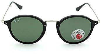 Ray-Ban RB2447 Polarized Unisex Round Sunglasses  Black Frame/Green Polarized Lens 901/58 49