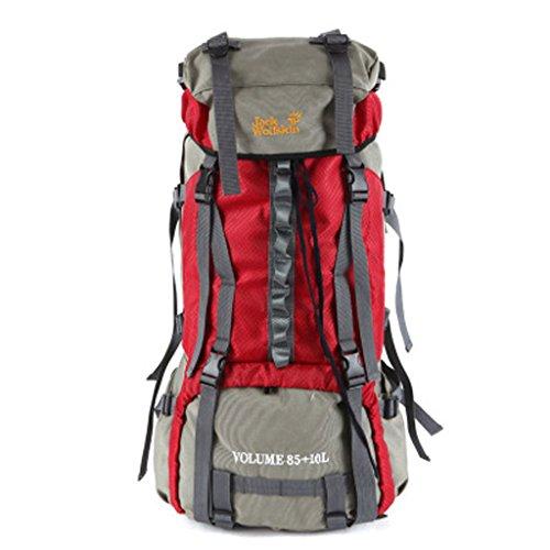 Acier 60L sac d'alpinisme professionnel sac en nylon imperméable randonnée imperméable à l'eau en plein air sac d'épaule de masse