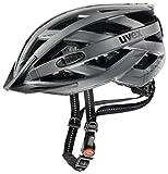 Uvex–Casco per bicicletta City I Vo, Unisex, Helm City I-VO, Dark Silver Mat, 56-60 cm
