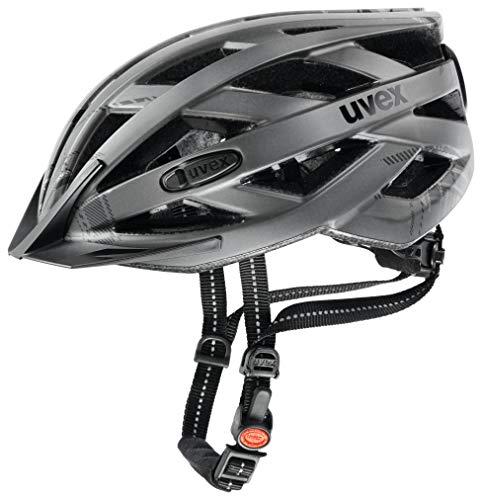 Uvex Unisex– Erwachsene, city i-vo Fahrradhelm, dark silver mat, 56-60 cm