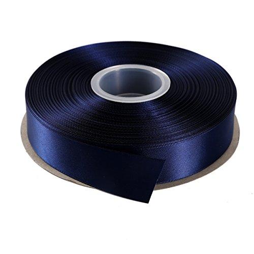ITIsparkle Ruban Satin 25mm x 45m Environ Décoration pour DIY, Mariage, Fête et Emballage Cadeau, Faire nœud Papillon - Bleu Marine