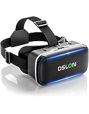 【DSLON VRゴーグル】VRヘッドセット VRヘッドマウントディスプレイ スマホ用 vrゴーグル PMMA非球面光学レンズ 1080PHD高画質 vrゴーグル 3Dメガネ 3D動画 VR動画 VRメガネ 超広角120° 焦点距離&瞳孔間距離調整可 臨場感あふれる 遠視/近視適用 メガネ対応 4.7~6.5インチのiPhone/andoridで使える 高品質のTPU材料 通気性良い ヘッドバンド調節可 装着感抜群 日本語取扱書付 連休 趣味 おうち時間 ギフト