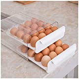Upgrade 32 Grid Egg Storage Double-Layer Drawer Type Egg Box for Fridge Transparent Egg Container Shelf Saving Kitchen Egg Storage Box
