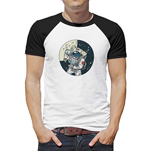 O5KFD & 8 mannen T-shirt studenten top [designaam] vrije tijd zomer - NASA patroon bedrukken ronde kraag dragen