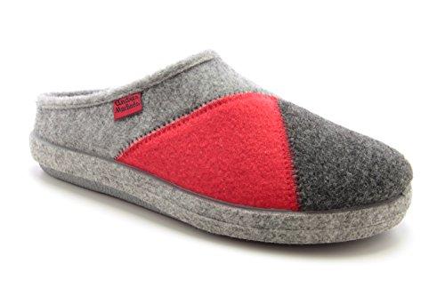 Andres Machado Unisex Hausschuhe für Damen und Herren für Sommer und Winter - Slipper/Pantoffeln - AM001, Multi Rot, 38 EU