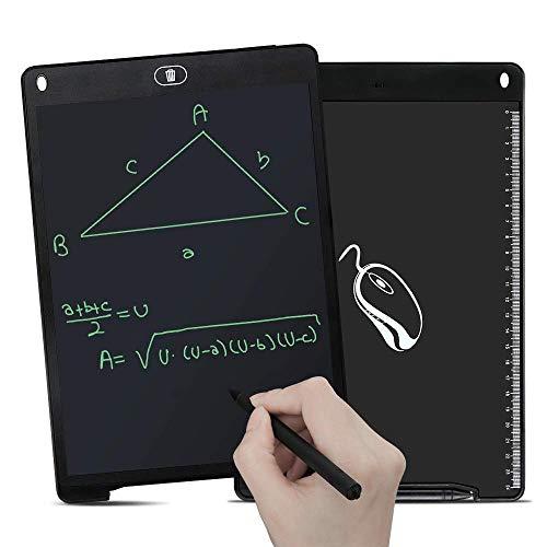 GRDE Tableta de Escritura LCD 12 Pulgadas Tableta Gráfica Pizarra Digital interactiva Tablero Mensaje & Dibujo con...
