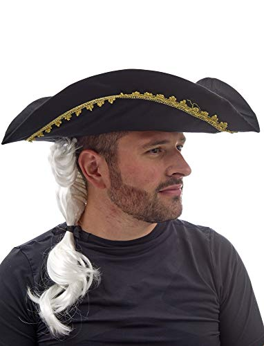 Fiesta Palace - chapeau tricorne avec cheveux