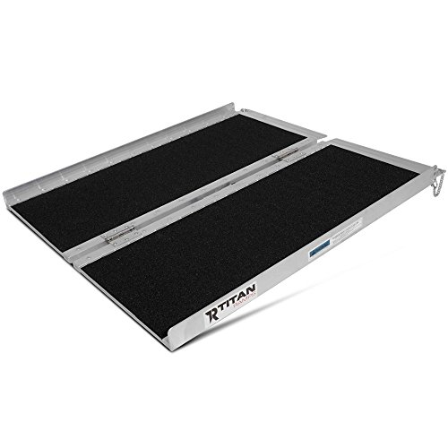 Titan Ramps Portable Wheelchair Ramp Single Fold 3 ft x 30 in 500 lb Capacity Non-Skid and Lightweight