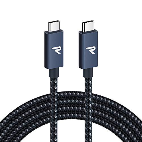 RAMPOW USB Type C-Type C ケーブル 2M 黒 PD3.0/USB 3.1 Gen2対応