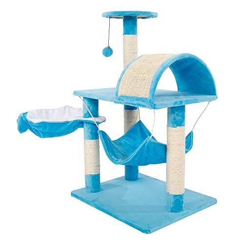 Homeatk Kätzchen Sisal Katzebaum Schloss Spielzeug Mit Seil Haus Pet Playing Center Klettern Kratzen Post Scratcher 82 cm Startseite Dekorative Fuiniture