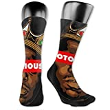 AsakawaKoutarou Biggie Smalls Moda Unisex Estampado Algodón Transpirable Deporte Casual Socks Calcetines Long Calcetines Thick Calcetines