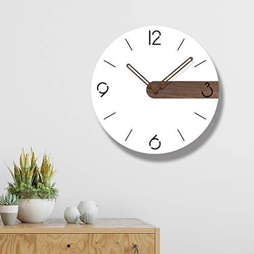 Xin Reloj de pared creativo minimalista nórdico, material redondo acrílico, reloj redondo sólido, movimiento de barrido silencioso, puntero de madera creativo, sala de estar, cocina, oficina, café de