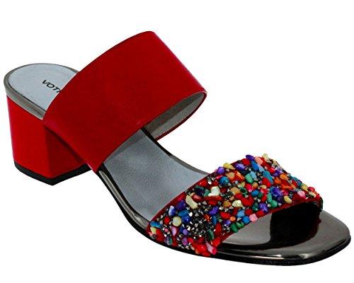 Brenda Zaro, F2699 Suede/Napa/irror, para mujer, color rojo bicomponente, Rojo (rojo), 39 EU