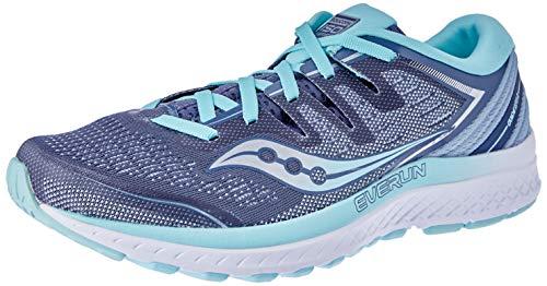 Saucony Women's Guide ISO 2 Running Shoe, Slate/Aqua, Size 5.0