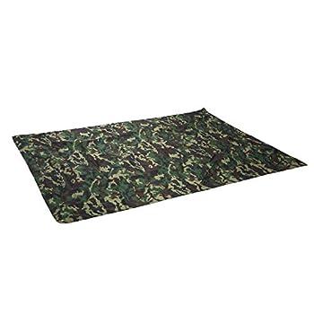 Bâche de Tente, MAGT Bâche Multifonctionnel Camouflage Tente de camping imperméable Tarp Étanche Camping Ultraléger Tente pour La Randonnée en Plein Air