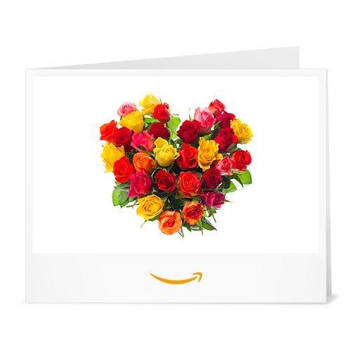 Cheque Regalo de Amazon.es - Imprimir - Corazón de flores