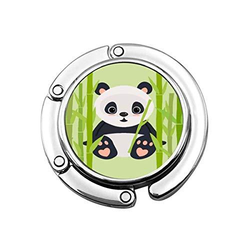 Portabiti da tavolo pieghevole Panda Bamboo Bamboo Borsa da donna pieghevole