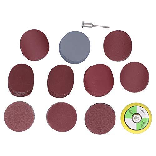 EXID 102 piezas de discos de lija de papel de lija, juego de papel de lija de 2 pulgadas, discos de pulido con varilla de extensión, accesorios para lijadora eléctrica