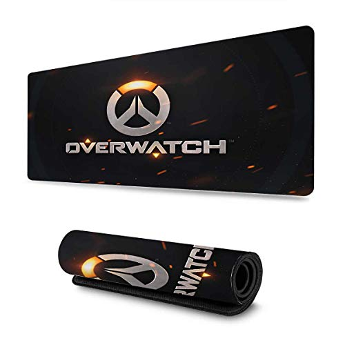 Professional Gaming Mouse Pad for Overwatch Logo,Anti-Skid Rubber Base,Waterproof,3mm Thick,Keyboard and Mouse Combo Pad Mouse Mat,Mousepad for Computer & Laptop 11.8x23.6 inch