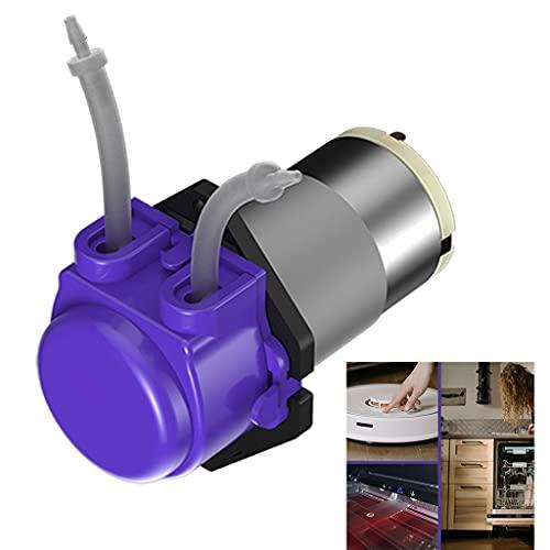 FUNCOCO Kleine pomp, DC 6/12/24V Water Hogedruk Membraan Zelfaanzuigende Pomp Huishouden/Tuin Wassen Automatische Schakelaar Paars – Siliconen Buis (24V)