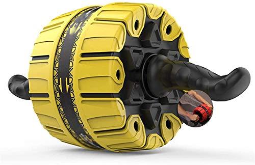 Rueda Abdominales Rueda De Ejercicio Abdominal para Entrenamiento De Fuerza Muscular para Gimnasio En Casa Amarillo mwsoz (Color : Yellow)