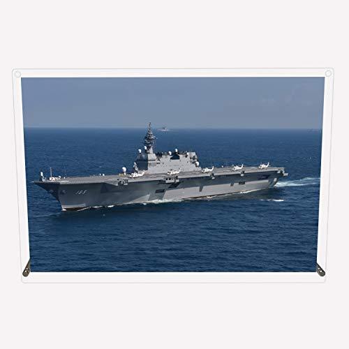 CuVery アクリル プレート写真 海上自衛隊 護衛艦 DDH-183 いずも デザイン スタンド 壁掛け 両用 約A3サイズ