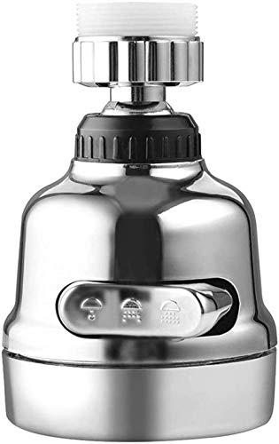 MLFPDXC-Extensor de grifo aireador de grifo de cocina presión doméstica difusor de agua burbujeador filtro de ahorro de agua boquilla de ducha boquilla conector de grifo (color: plateado)