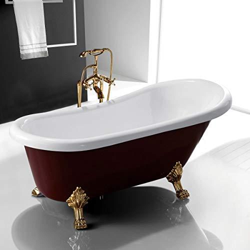 67' Acrylic Clawfoot Bathtub Elegant, Traditional Oval...